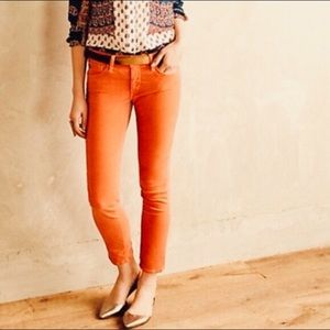 AG Stevie straight orange jegging corduroy pants